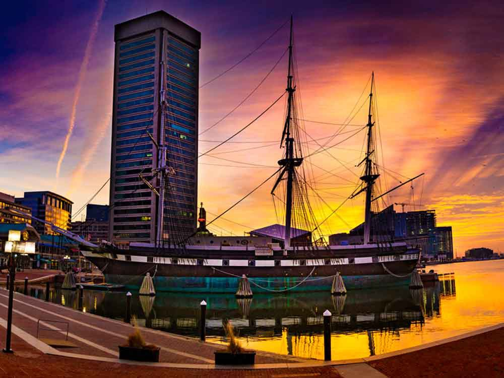 Baltimore, MD USS Constellation Canvas or Photo Paper