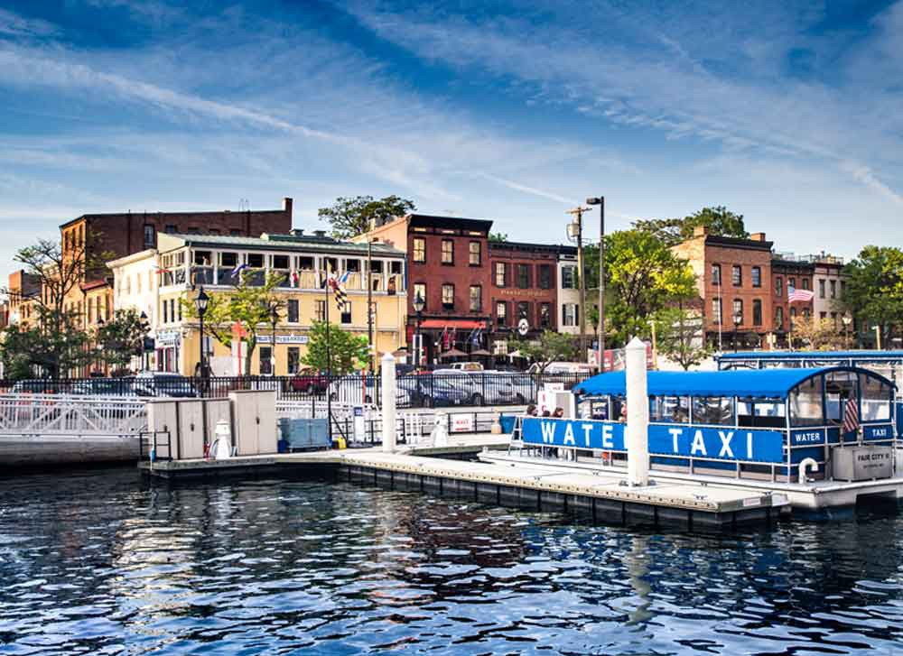 Baltimore, MD Fells Point Thames Street Canvas or Photo Paper