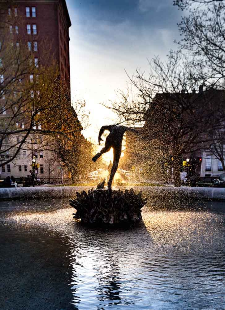 Baltimore, MD Fountain Dancer Canvas or Photo Paper