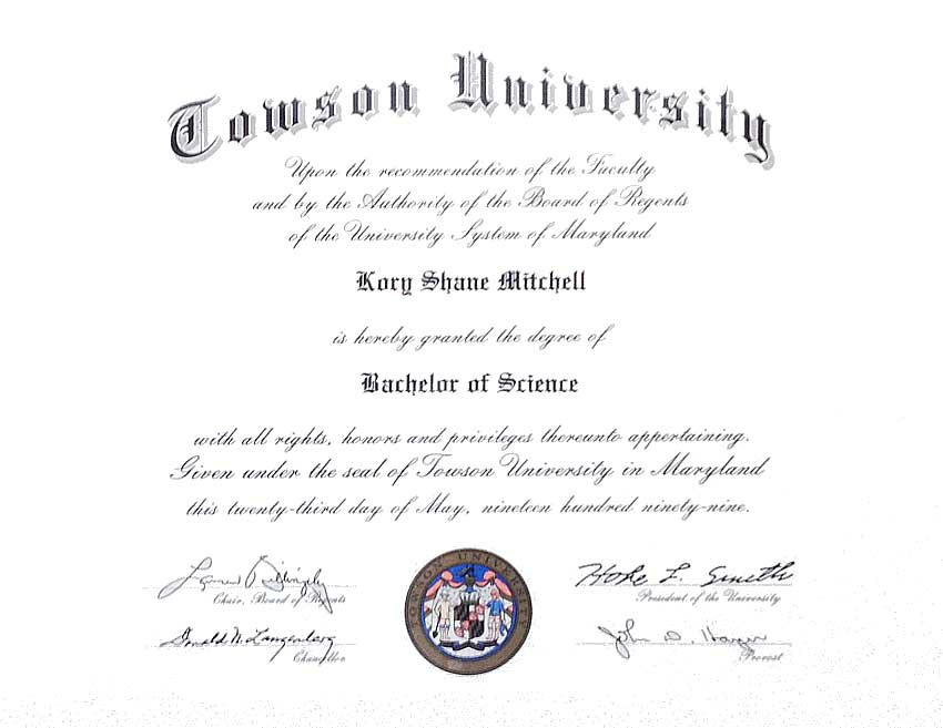 Diploma and Certificate Framing