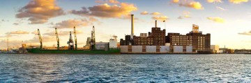 Baltimore, MD Panoramic Domino Sugar Plant- Canvas or Photo Paper