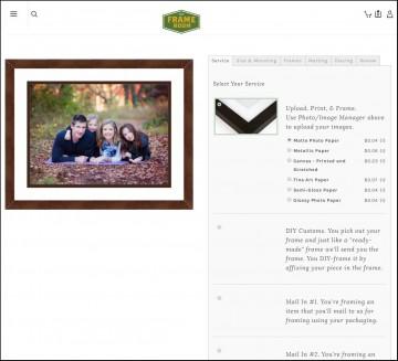 Online Custom Framing - Upload & Print Optional