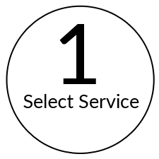 step 1 select your service at the frame room