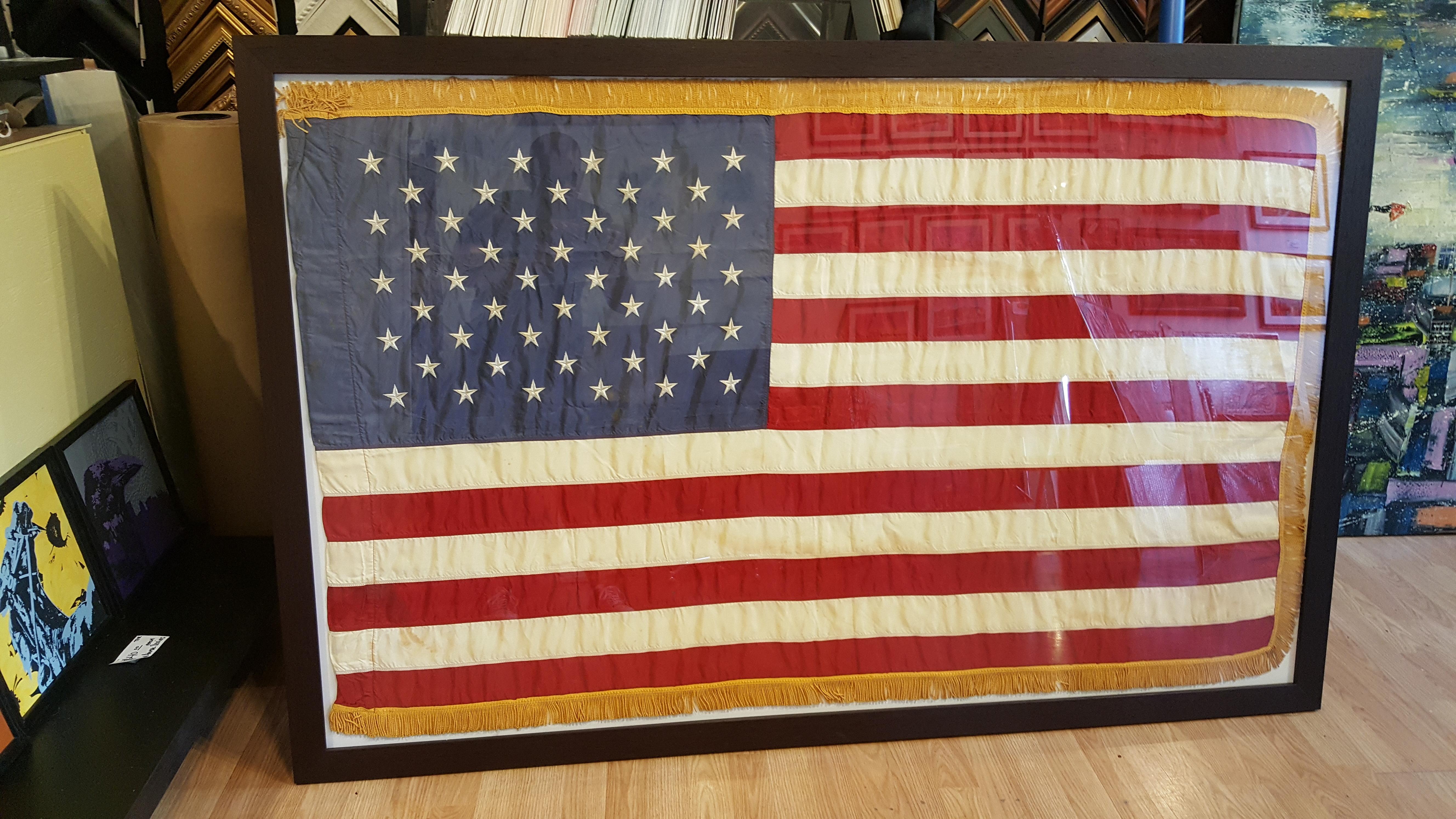 American flag shadow box